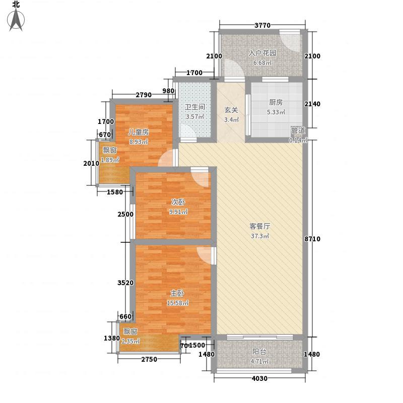 龙华世纪城龙华世纪城14#A13室2厅2卫1厨户型10室