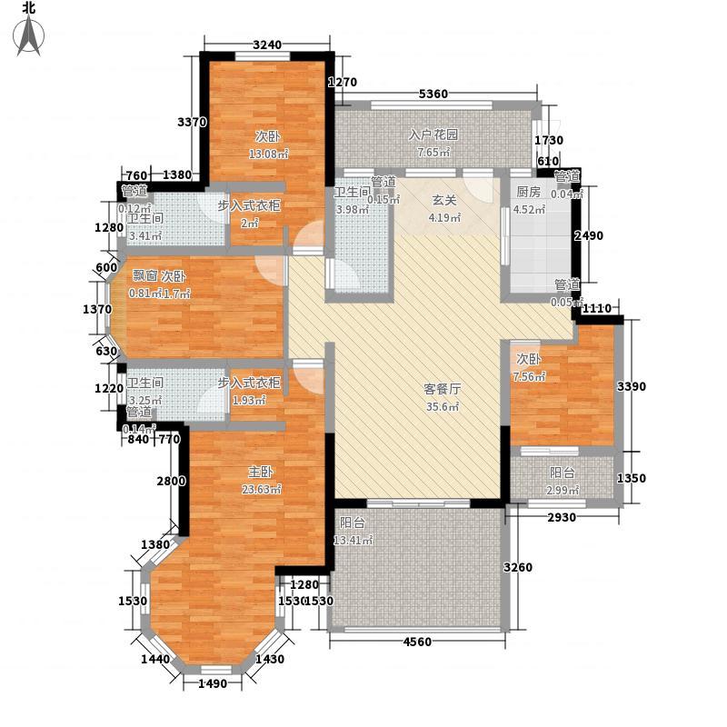 郑州国瑞城18.41㎡二期D3户型4室2厅3卫1厨
