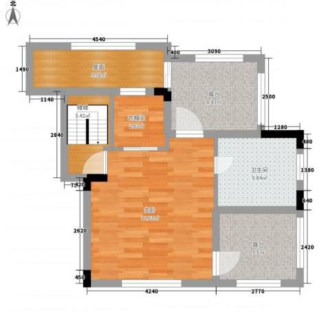 托斯卡纳1室0厅1卫0厨55.00㎡户型图