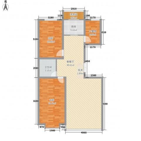 都市华尔兹3室1厅1卫1厨147.00㎡户型图
