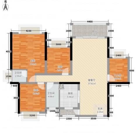 五洲家园3室1厅2卫1厨112.00㎡户型图