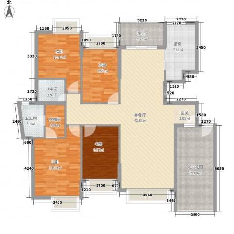 半岛豪庭三期名著4室1厅2卫1厨172.00㎡户型图