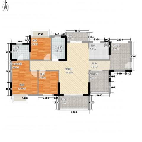 锦地繁花3室1厅2卫0厨115.00㎡户型图