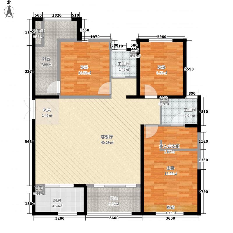 开元・第一城137.57㎡开元・第一城户型图8-1-04户型图3室2厅2卫1厨户型3室2厅2卫1厨