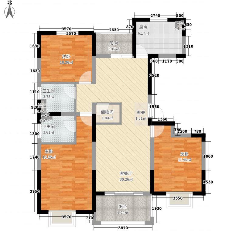 万锦豪庭135.00㎡一期1、2、3#标准层A户型