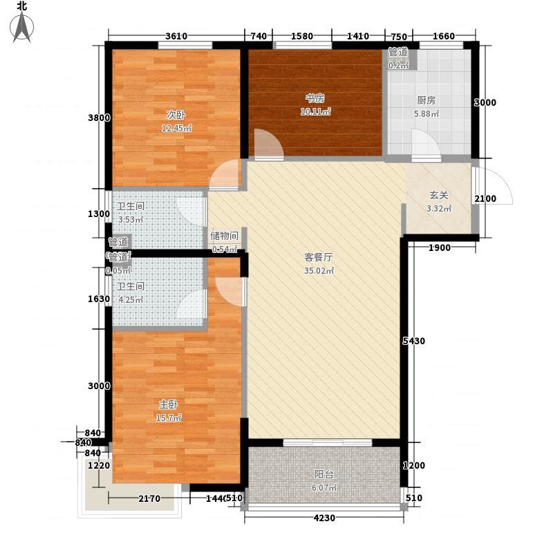 尚东1956128.58㎡尚东1956户型图C1户型3室2厅2卫1厨户型3室2厅2卫1厨