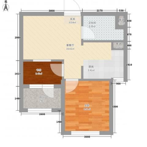 家豪圣托里尼2室1厅1卫0厨55.00㎡户型图