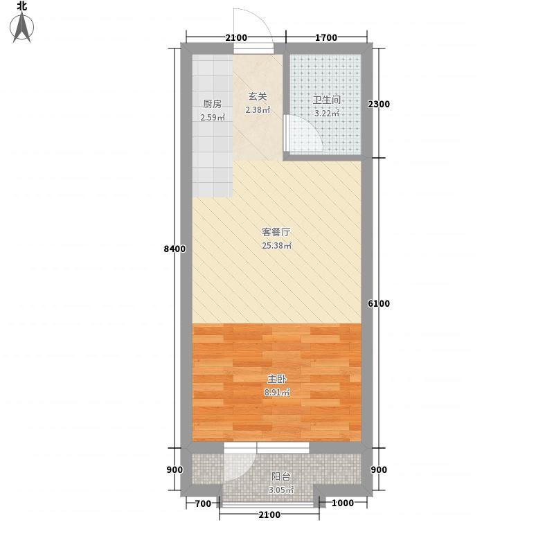 第8区0室1厅1卫0厨48.00㎡户型图