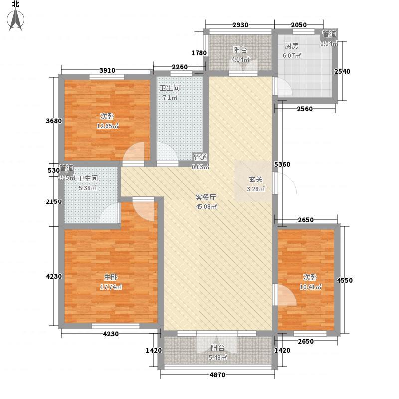 西典家园104.11㎡户型3室2厅2卫1厨