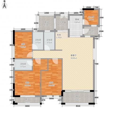 风度广场3室1厅3卫1厨168.00㎡户型图