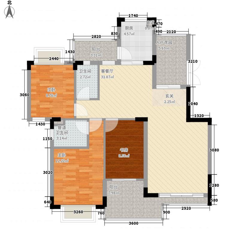 锦峰森邻128.05㎡锦峰森邻户型图阔度三房3室2厅2卫户型3室2厅2卫