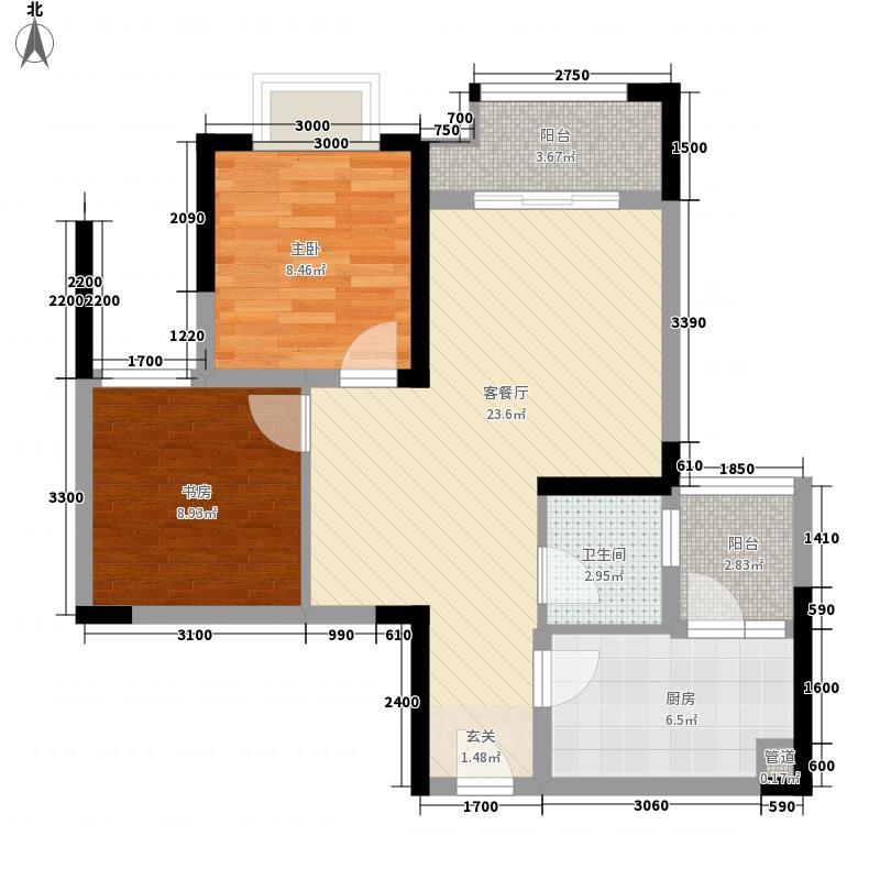 金科天宸三街区3-4号楼标准层D户型