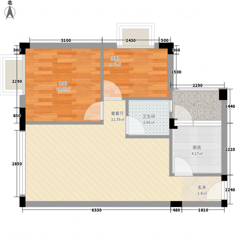 海湾明珠深圳海湾明珠一期户型图1户型10室