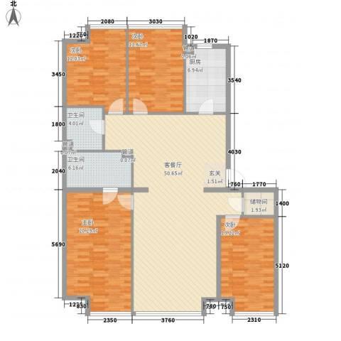 UHN国际村4室1厅2卫1厨182.00㎡户型图