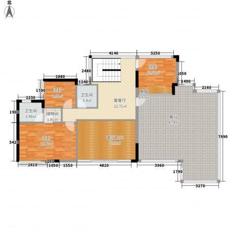 锦绣江南3室1厅2卫0厨178.00㎡户型图