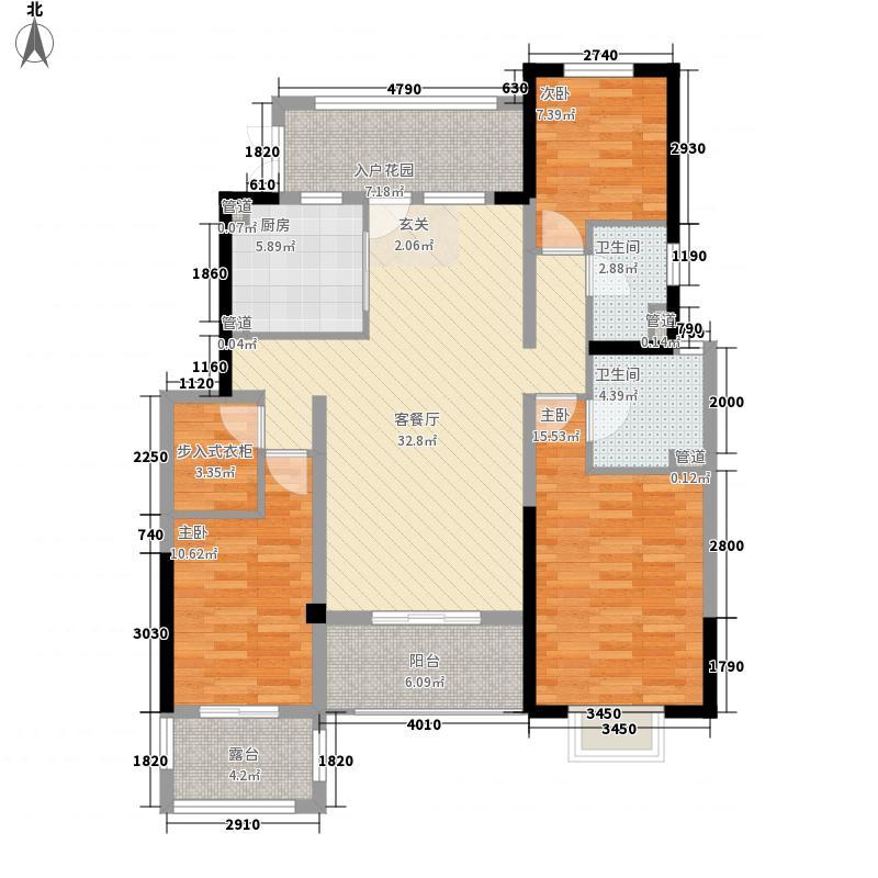 郑州国瑞城145.00㎡一期洋房F4户型3室2厅2卫1厨
