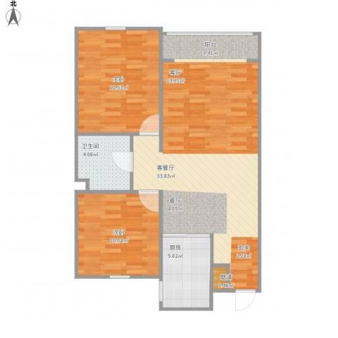 华润橡树湾2室1厅1卫1厨89.00㎡户型图