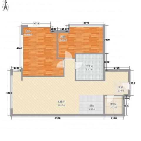 新世界名泷2室1厅1卫0厨126.00㎡户型图