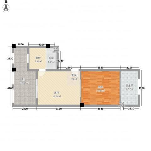 金汤湾海水温泉小镇1室2厅1卫0厨82.00㎡户型图