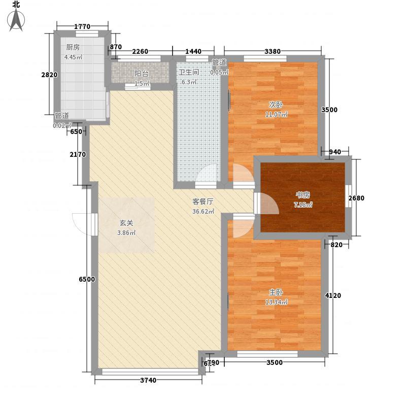 新华壹品115.00㎡新华壹品户型图3室2厅1卫户型10室