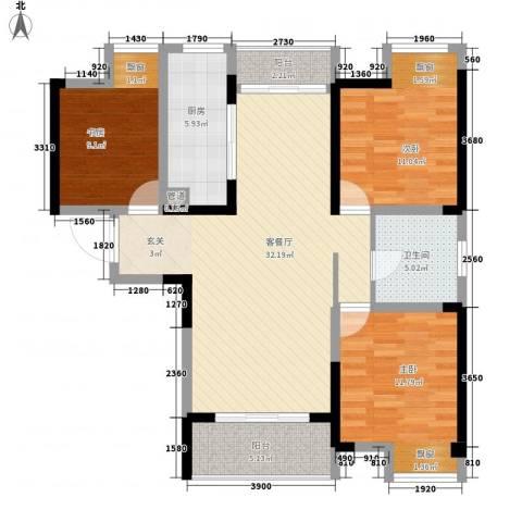 天安尚城3室1厅1卫1厨120.00㎡户型图