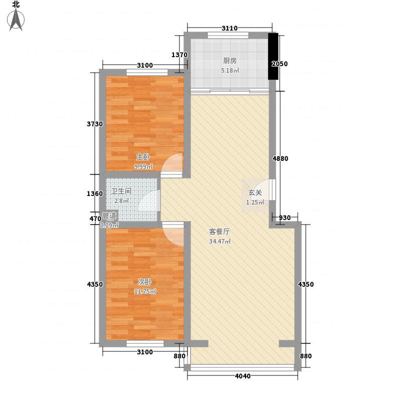 瑞欣1.78㎡小区C1户型3室3厅2卫2厨