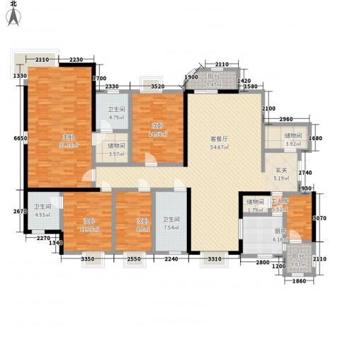 莲花苑4室1厅3卫1厨239.00㎡户型图