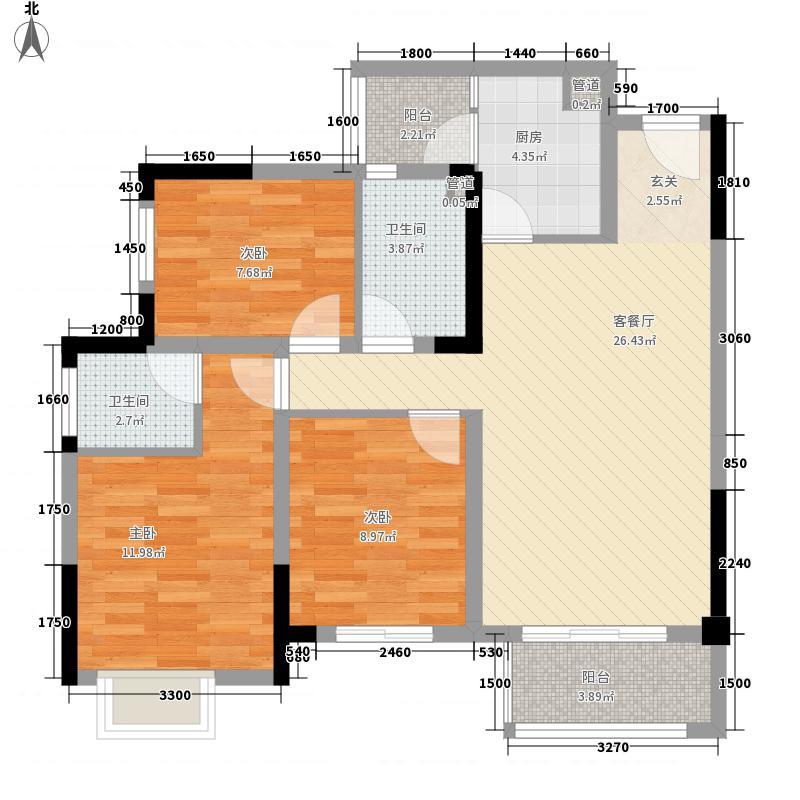 金科空港城一期1号楼标准层A2户型