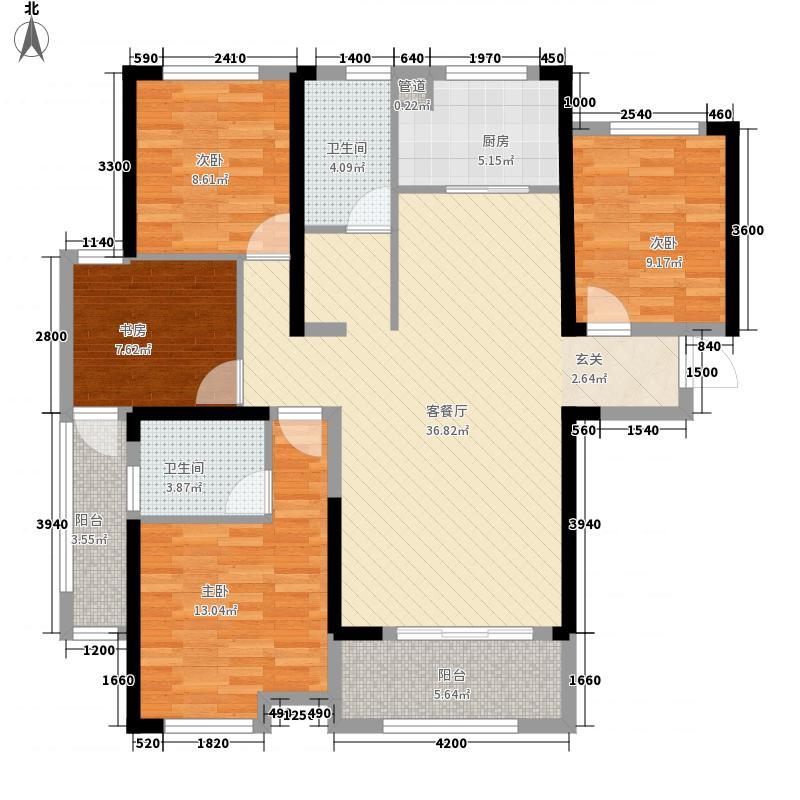 统建天成美景4室1厅2卫1厨135.00㎡户型图