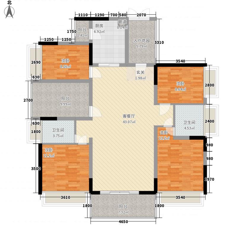 佳兆业东江豪门22栋标准层01单位户型