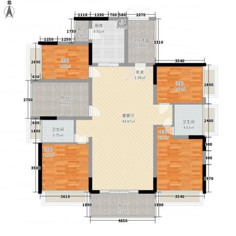 佳兆业东江豪门4室1厅2卫1厨176.00㎡户型图