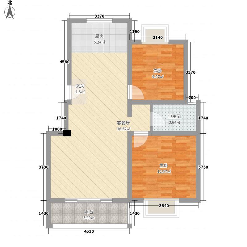 清凉茗园95.59㎡清凉茗园户型图2室2厅1卫1厨户型10室