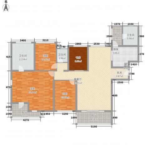 海峡国际社区4室1厅3卫1厨229.00㎡户型图