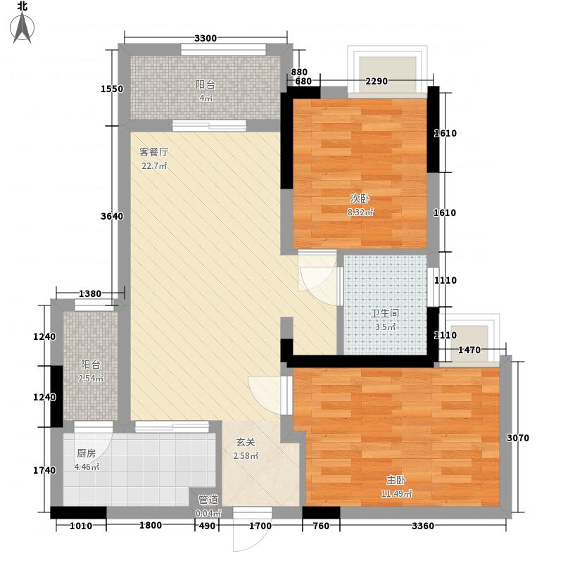融汇半岛C公馆一期高层1-3号楼标准层A户型