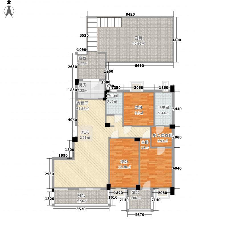 汇悦天地3室1厅2卫1厨153.00㎡户型图