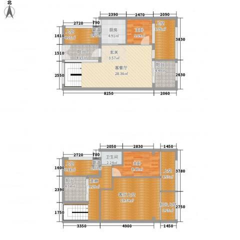 熙和园2室1厅1卫1厨113.97㎡户型图