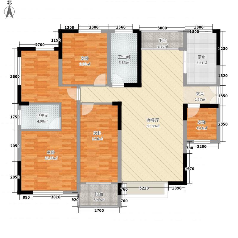 帕佳图・尚品136.82㎡5幢03标准层户型3室2厅2卫1厨