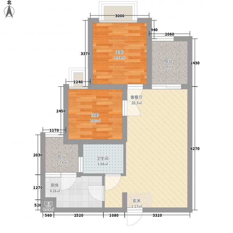 融汇半岛C公馆一期高层1-3号楼标准层B户型