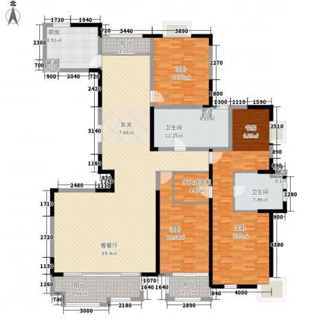 太阳都市花园3室1厅2卫1厨232.00㎡户型图