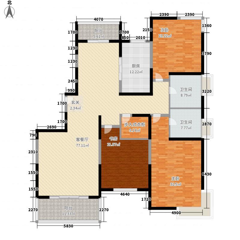 金海湾别墅285.00㎡金海湾别墅5室户型5室