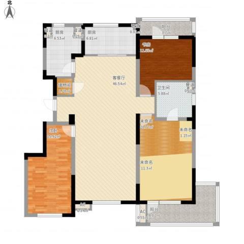 万科金域蓝湾2室1厅1卫2厨183.00㎡户型图