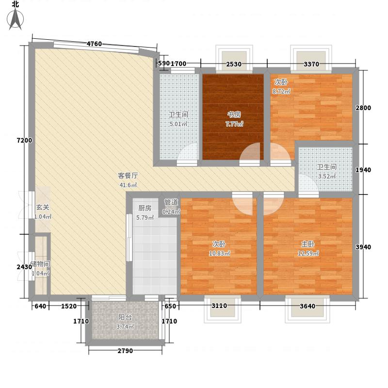地铁首府145.00㎡地铁首府户型图户型图(售完)4室2厅2卫1厨户型4室2厅2卫1厨