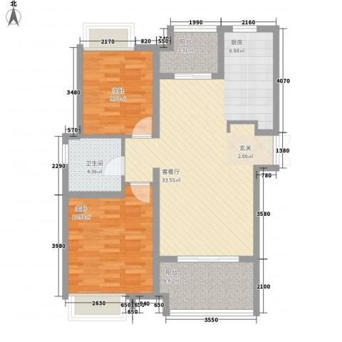 桑达园五期2室1厅1卫0厨100.00㎡户型图