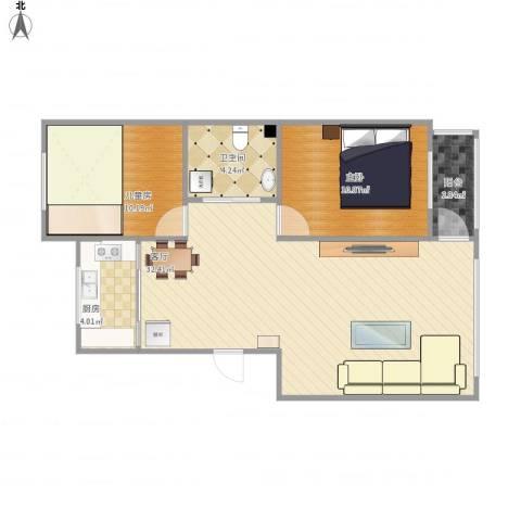 红运平安家园小区2室1厅1卫1厨83.00㎡户型图