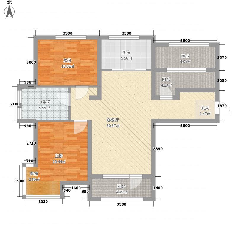 金普广场7.00㎡1号楼高层C户型3室2厅1卫1厨