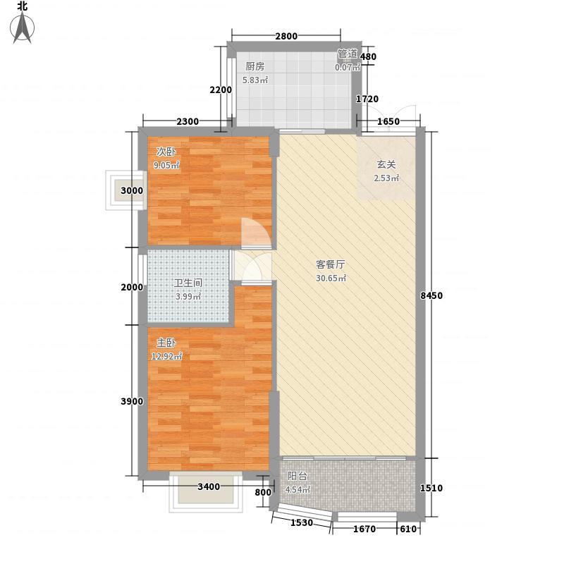 泉盛小区青2室2厅2户型2室2厅2卫