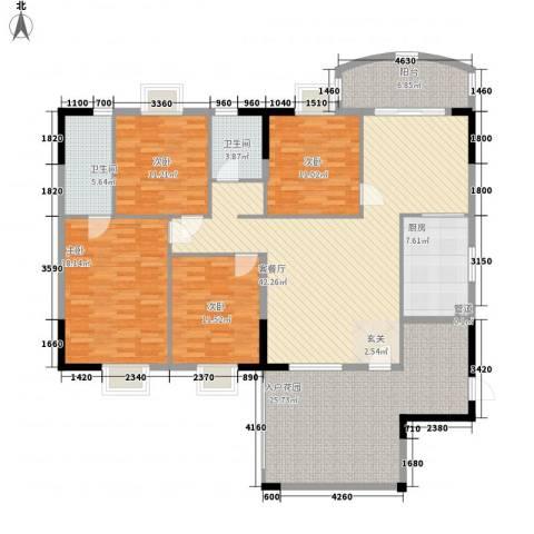 金泰瑞和园4室1厅2卫1厨199.00㎡户型图