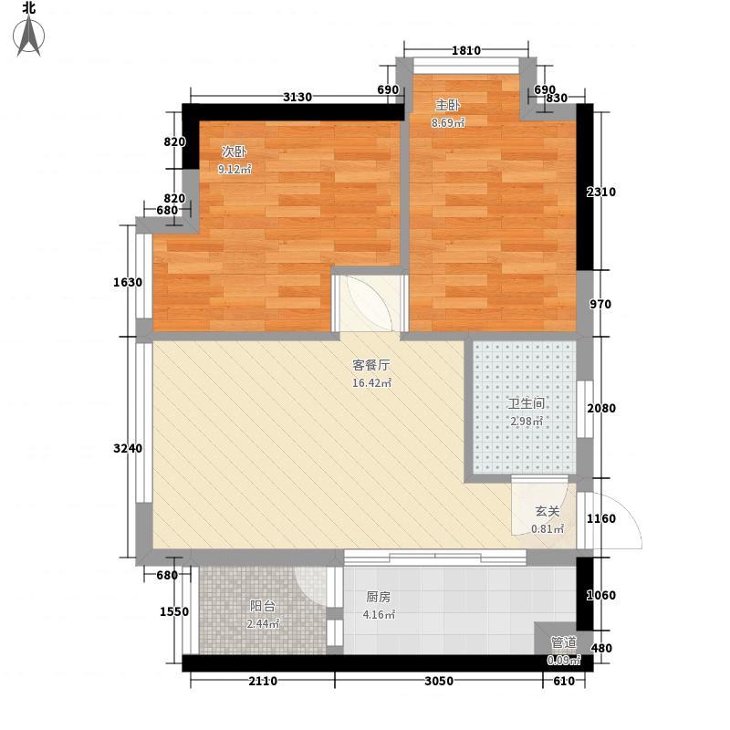 花明大厦64.39㎡花明大厦户型图A2-08/09户型2室2厅1卫1厨户型2室2厅1卫1厨