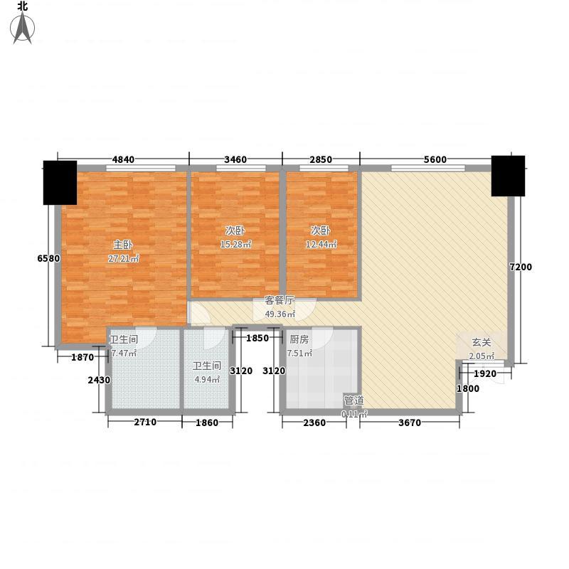 花明大厦172.00㎡花明大厦户型图奢华空间3室2厅2卫1厨户型3室2厅2卫1厨