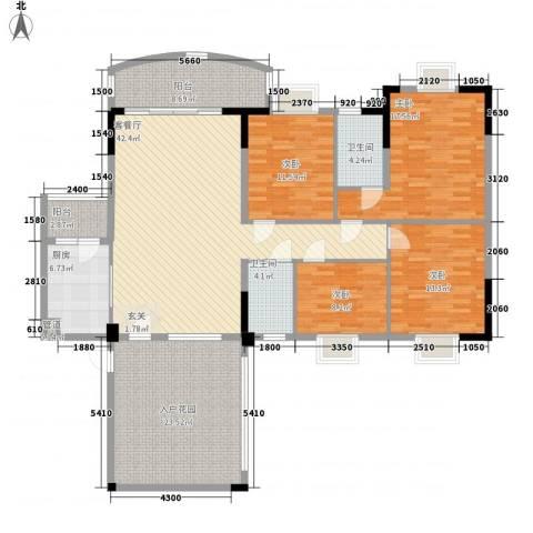 金泰瑞和园4室1厅2卫1厨200.00㎡户型图